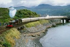 Steam train coming into Barmouth