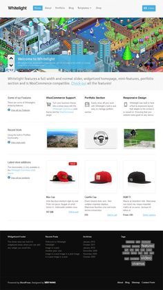 A clean and professional responsive business WordPress theme with integrated ecommerce functionality