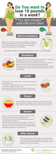 Want to lose 10 pounds fast without starving? It is possible. In this infographic you have a blueprint that will show you what to have for breakfast, lunch, dinner and few bonus tips. Losing weight fast can be dangerous. That is why we recommend you to consult with your MD first. Treat your body good and you will lose weight or 10 pounds without a doubt. #infographics