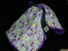Owl in Purple Carseat CANOPY Blanket- READY to Ship. $48.00, via Etsy. - I want this!