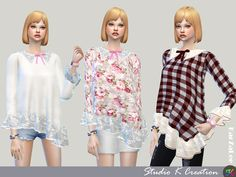 Sims 4 CC's - The Best: Secret Pink Type F_top for female by Studio-K-Crea...