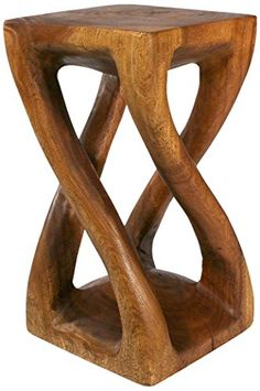 Vine Twist Table - Rustic - Side Tables And End Tables - by Strata Furniture Sunroom Furniture, Home Bar Furniture, Funky Furniture, Rustic Furniture, Walnut Furniture, Furniture Decor, Wood Carving Designs, Wood Carving Patterns, Curved Wood