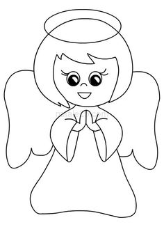 Pin su Coloring Pages Christmas Templates, Easy Christmas Crafts, Christmas Activities, Christmas Art, Christmas Ornaments, Angel Coloring Pages, Colouring Pages, Coloring Books, Christmas Coloring Sheets