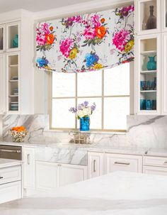 kitchen with bright accents | IBB Design Fine Furnishings