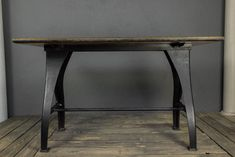 Industrial Desk Office Furniture for Only 100 | Early 20th Century Iron and Wood Factory Table For Sale at 1stdibs