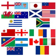 Rugby World Cup 2015 All 20 Teams. Great for pubs, bars and venues showing the Rugby matches http://www.novelties-direct.co.uk/Rugby-World-Cup-2015-All-20-Teams.html