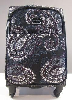 451826723 Vera Bradley Spinner Travel Luggage Suitcase Paisley Petals 22