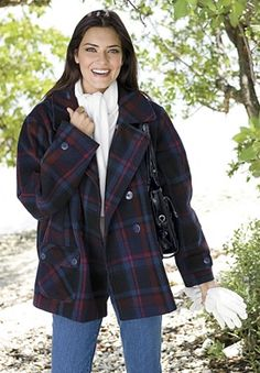 Woman Within peacoat