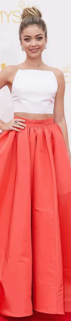 Sarah Hyland in Christian Siriano LOOKandLOVEwithLOLO: 2014 Emmy Red Carpet (Updated)