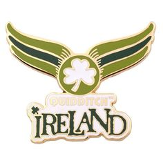 Universal Studios Harry Potter Quidditch Ireland World Cup Pin This pin is multicolored, hard-enamel fill with gold-plated finish. Measures approximately 2 1/2 x 2 inches. New with card HARRY POTTER,
