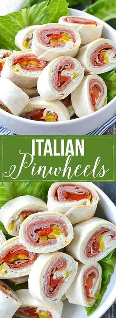Pinwheels These super yummy Italian Pinwheels are so easy to make and are filled with Italian meats and cheese. A definite must try!These super yummy Italian Pinwheels are so easy to make and are filled with Italian meats and cheese. A definite must try! Finger Food Appetizers, Appetizers For Party, Appetizer Recipes, Bite Size Appetizers, Easy Sandwich Recipes, Party Finger Foods, Italian Meats, Italian Wine, Italian Snacks
