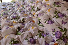cobertor de dos plazas terminado, con lana 100% natural de oveja.