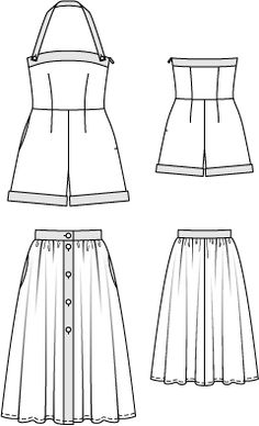 CAPRI Overall and Skirt: Technical Drawing