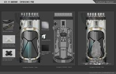 ArtStation - Sci-fi Horror - Cryogenic Chamber, Jonah Booth-Remmers