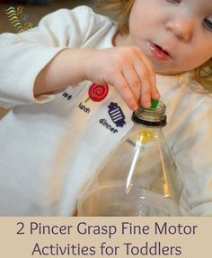 2 fun and easy fine motor activities for your toddler! | www.GoldenReflectionsBlog.com