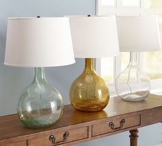 find a cool vase and turn it into a lamp...can even tint it like this.