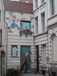 "Comic in Brussels ""Such an excellent visual culture in Brussels."" KB"
