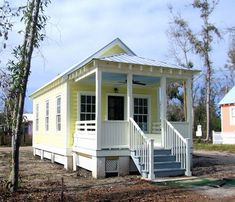 The leading tiny house marketplace. Search thousands of tiny houses for sale and rent and connect with tiny house professionals. Cozy Cottage, Cottage Homes, Yellow Cottage, Cottage Style, Tiny House Living, Small Living, Mother In Law Cottage, Cabins And Cottages, Beach Cottages