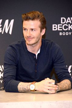 David Beckham looks hot in Berlin. See pictures from his H underwear line promotion.
