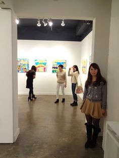 Taisuke's sister, at Hpgrp gallery