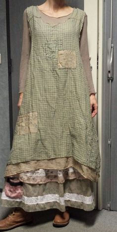 Elegant and colourful Boho-Chic style necklace by AnabeliaCrafts Free patterns! Elegant and colorful Boho Chic style necklace by AnabeliaCrafts too through Mode Shabby Chic, Shabby Chic Fashion, Shabby Chic Clothing, Boho Outfits, Vintage Outfits, Shabby Chic Outfits, Shabby Chic Dress, Bohemian Style, Boho Chic