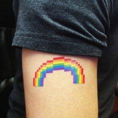 Tatuagem pixelada Mais