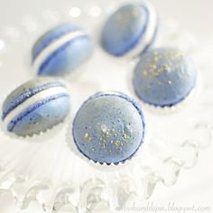 Not So Humble Pie: Blueberry Macarons with Orange Blossom Water