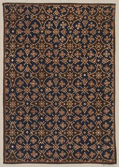 Batik samples (late 19th century, Surakarta, Java, Indonesia). Cotton, natural dyes; hand-drawn (tulis) wax-resist (batik). Images and text courtesy MFA Boston.