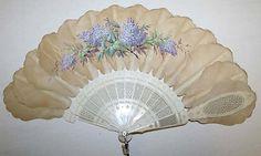 French silk fan, circa 1867