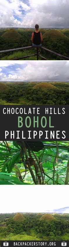 The Chocolate Hills are a very strange geological formation with more than 1000 cone-shaped hills. How to get to the Chocolate Hills Chocolate Hills, Bohol Philippines, Backpacker, Destinations, Big, Travel, Viajes, Traveling, Trips
