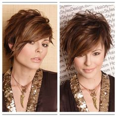 Similar to my current look just a bit longer short brown Short Textured Hair, Short Straight Hair, Short Hair Cuts For Women, Short Sassy Haircuts, Short Shag Hairstyles, Straight Hairstyles, Short Hair Trends, Short Hair Styles, Pelo Pixie