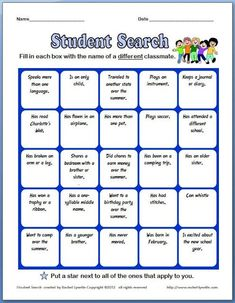 Free Back to School Ice Breaker! Love this, so easy!