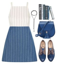 """Pinstripes"" by oliverab ❤ liked on Polyvore featuring Topshop, New Look, Yoki, preppy and pinstripes"