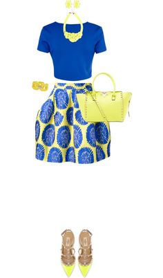 """""""Blooming Brilliance"""" by angela-windsor on Polyvore ~Latest African Fashion, African women dresses, African Prints, African clothing jackets, skirts, short dresses, African men's fashion, children's fashion, African bags, African shoes ~DK"""