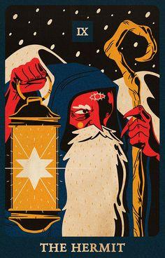 Graphic Design Illustration, Graphic Art, Tarot Cards Major Arcana, The Hermit Tarot, Tarot Significado, Online Tarot, Legends And Myths, Cute Notebooks, Tarot Reading