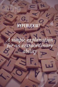 Ever heard of hyperlexia?