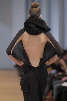 Dress back detail - pattern, structure and drape; fashion close up // Ulises Merida