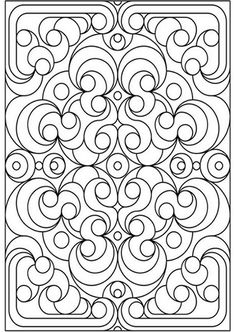 Geometric Design Coloring Pages and Stained Glass Colouring Pictures to Print – Deco Flowers Make your world more colorful with free printable coloring pages from italks. Our free coloring pages for adults and kids. Pattern Coloring Pages, Coloring Pages To Print, Coloring Book Pages, Printable Coloring Pages, Coloring Pages For Kids, Coloring Sheets, Free Coloring, Printable Art, Mandalas Painting