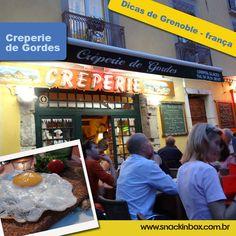 Dica deliciosa de onde comer na cidade de Grenoble França!  Delicious tip where to eat at Grenoble-France  http://www.snackinbox.com.br/le-creperie-des-gordes-dicas-de-grenoble-franca/