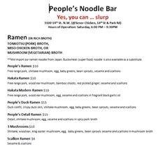 people's noodle bar
