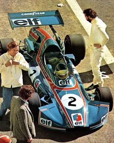José Rosinski is about to test Jean-Pierre Jabouille's Elf 2 (Alpine A367) Cosworth BDA of Elf Coombs Racing at the end of the 1972 season for Sport Auto, a french racing magazine.