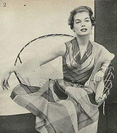 1954 Use of plaid -- chevron