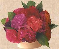 A bunch of paper flowers using tissue and crepe paper - great for mothers day activity