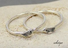 Bird Ring of sterling silver...Stack ring... Stacking by Arketipo, €19.00