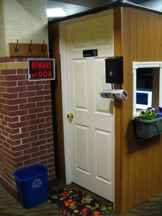 Turn your cubicle into a home away from home! It even has a welcome mat and mailbox! Check out some more funny cubicle houses: http://blog.neosusa.com/2011/11/a-home-away-from-home-your-cubicle/