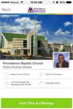Providence Baptist Church in Cleveland, Ohio #GivelifyChurches