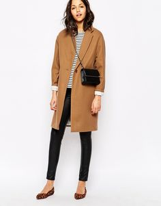 Image 4 of Sessun Harry Longline Coat in Camel