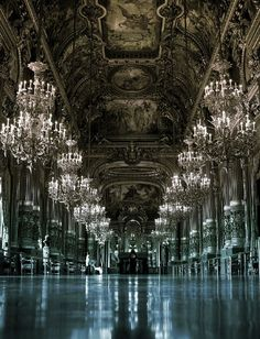 decadent chandeliers and detail
