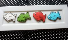 Dr Seuss One Fish Two Fish Red Fish Blue Fish Cookies for baby shower