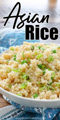 rice recipes for dinner ; rice recipes for dinner side dishes ; Asian White Rice Recipe, White Rice Recipes, Asian Rice, Rice Recipes For Dinner, Oriental Rice Recipe, Chinese Rice Recipe, Thai Rice, Easy Rice Recipes, Water Recipes